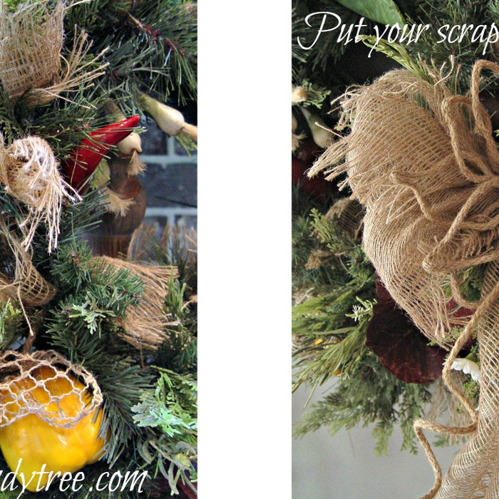 Re-Purpose Vegetable Arrangement into a New Wreath