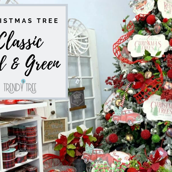 Classic Red Green Christmas Tree Inspiration