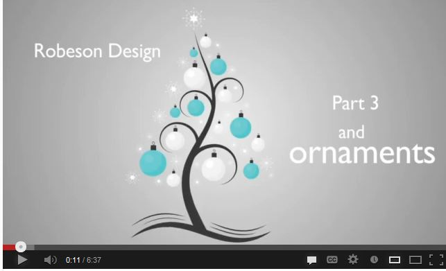 Adding Balls and Ornaments to the Christmas Tree by Robeson Design