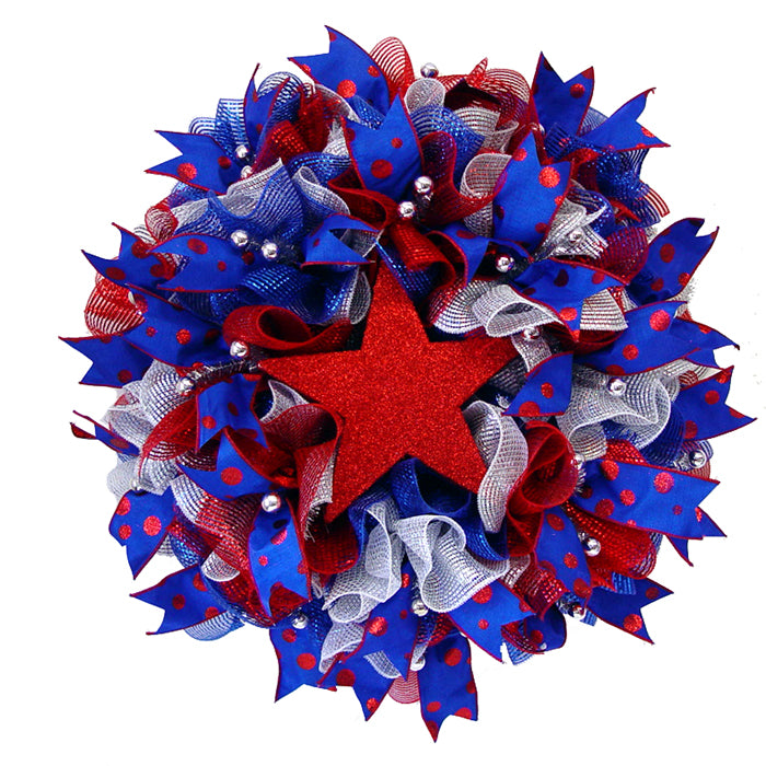 Patriotic Ruffle Wreath Tutorial
