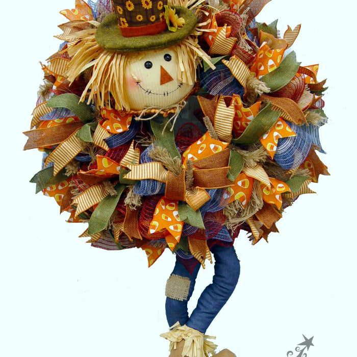 DIY Pot Head Scarecrow Wreath