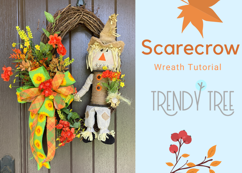 Fall Scarecrow Grapevine Wreath Tutorial