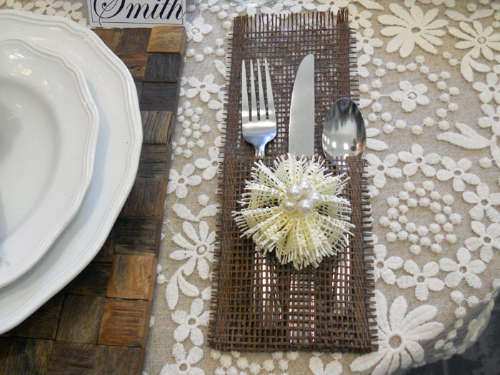 Silverware Packet Made from Deco Paper Mesh Ribbon