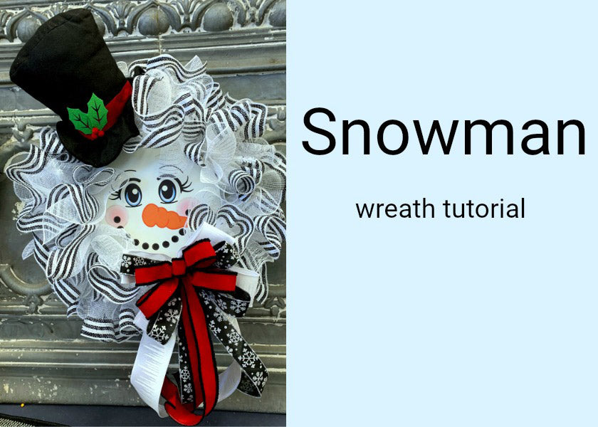Snowman with Top Hat Wreath Tutorial