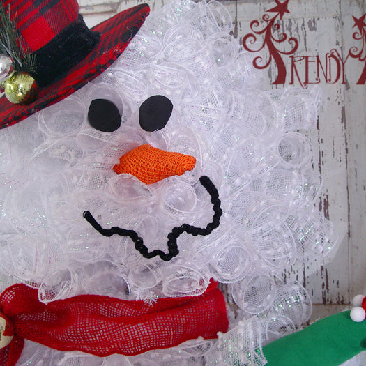 Snowman Wreath Tutorial 2014