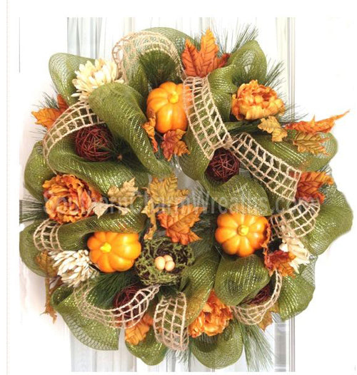 Autumn Deco Mesh Wreaths by Southern Charm Wreaths