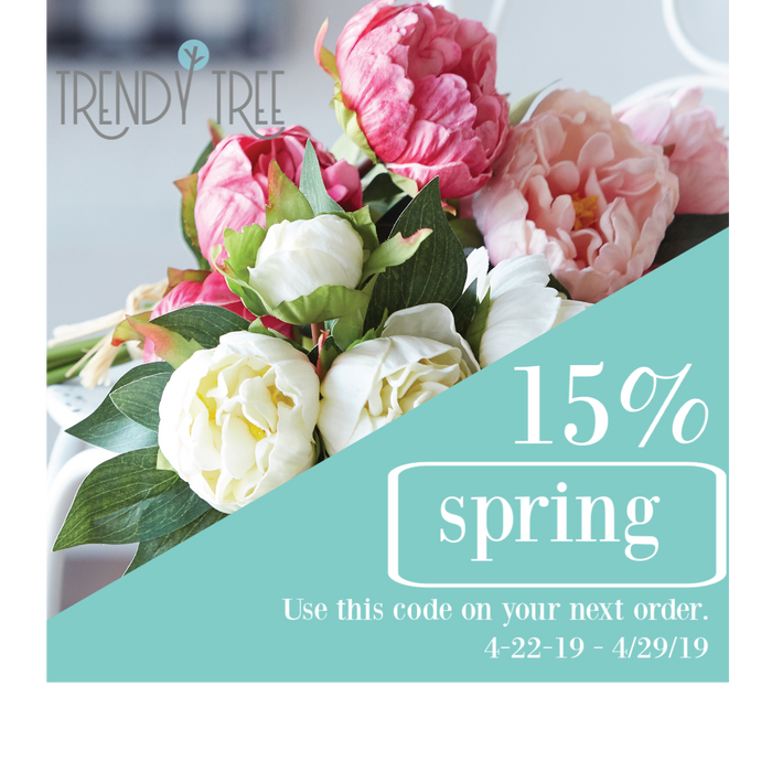 Spring Savings! 15% Off!