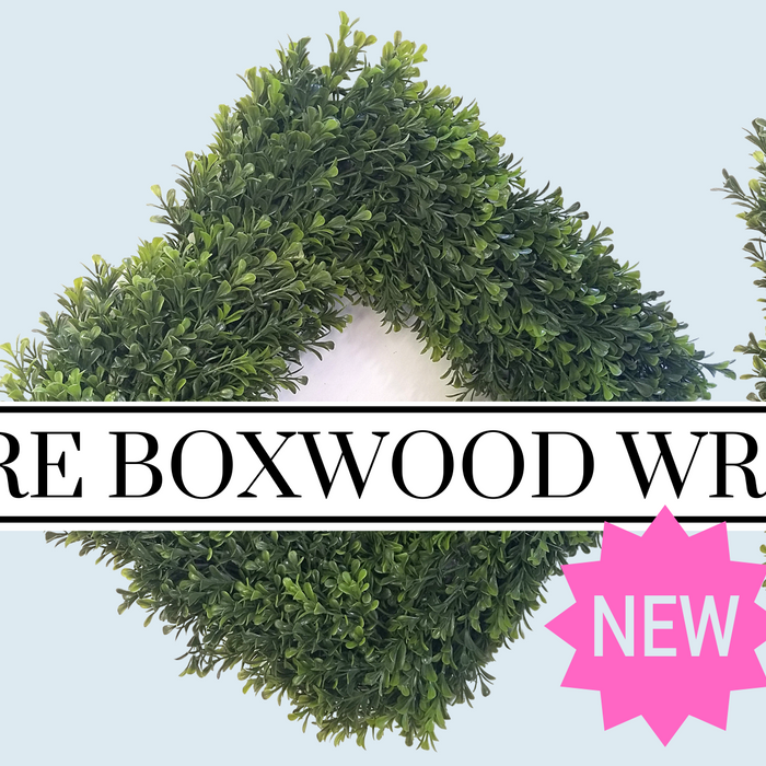 New! Square Boxwood Wreaths Just Arrived!
