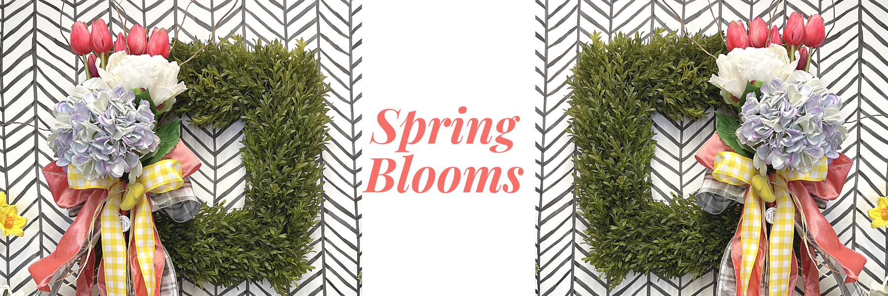 Start with a Premade Wreath & Add Spring Blooms
