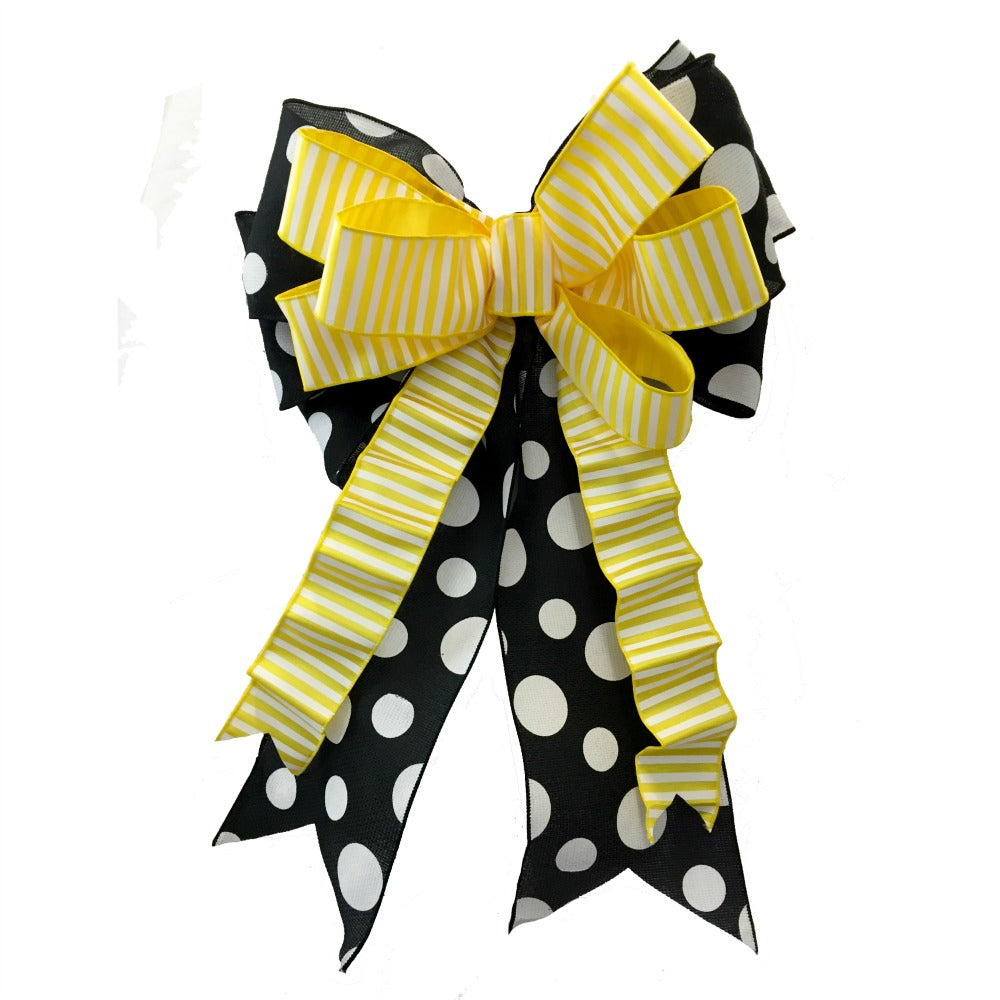 "Stacked Wreath Bow using 6"" Ribbon"