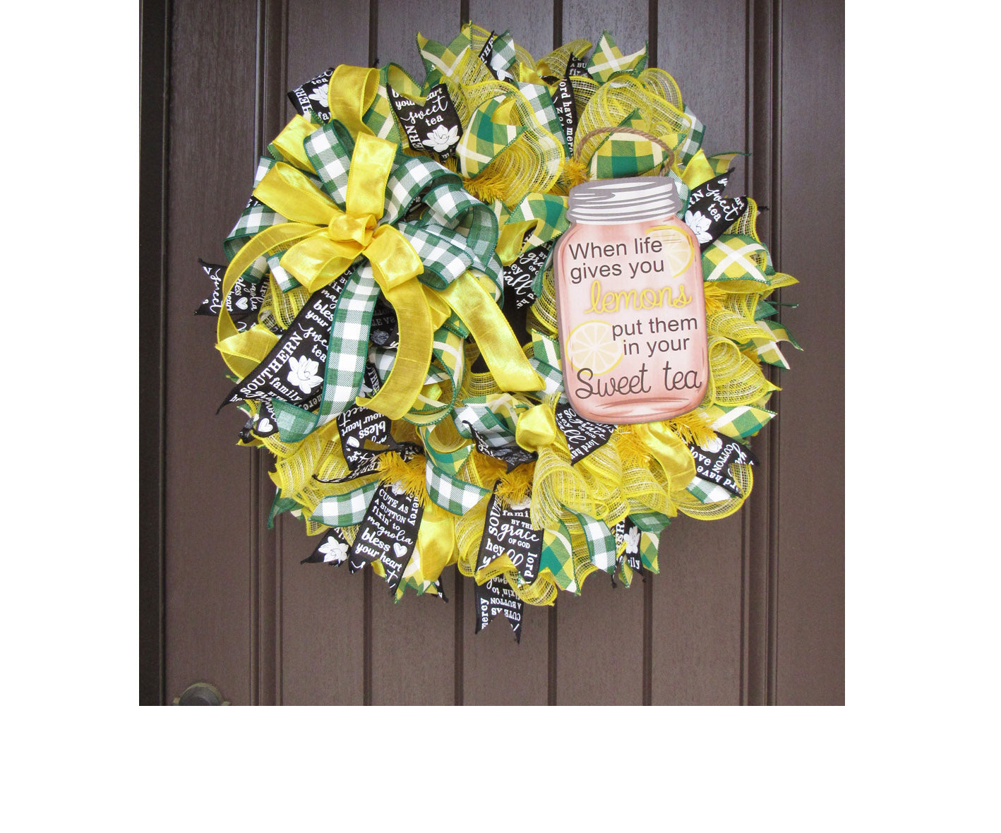 Sweet Tea Wreath Tutorial
