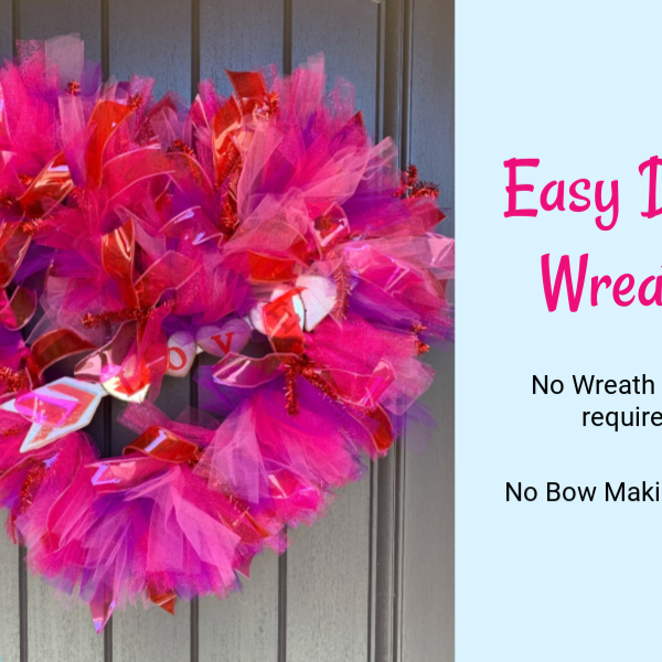 Tulle Valentine Wreath Tutorial