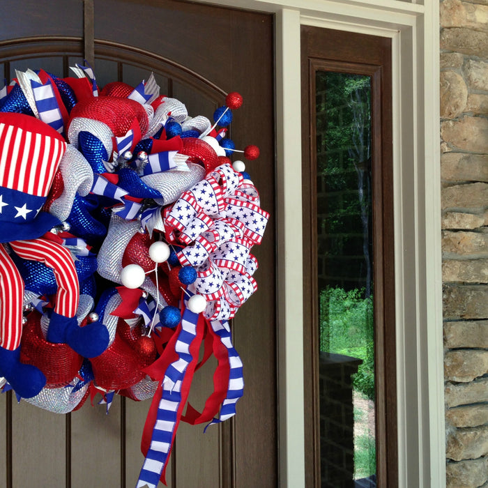 Uncle Sam Patriotic Wreath Tutorial 2016