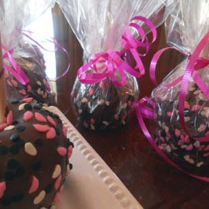 Candy Apples for Valentine's Day