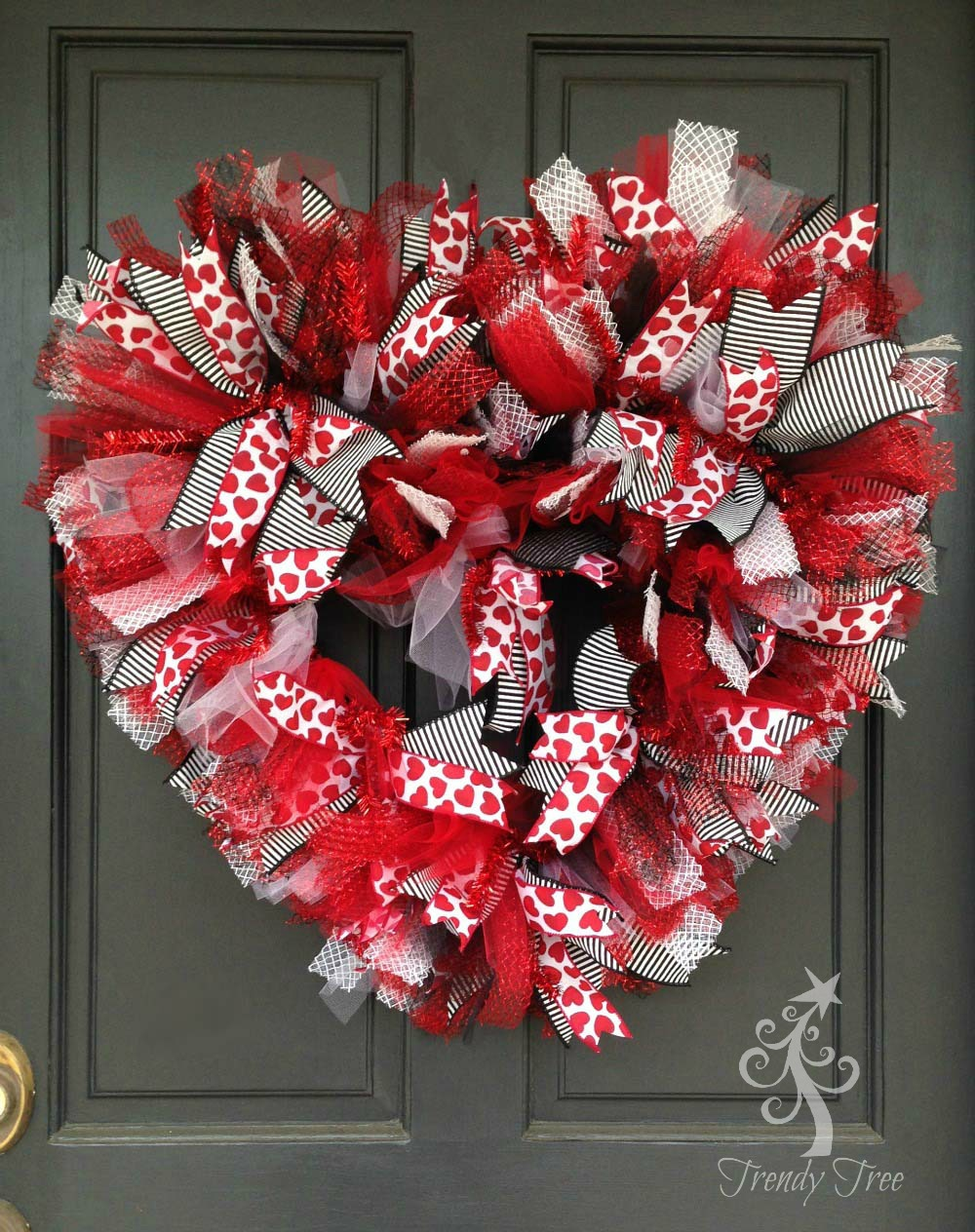 Basic Red Valentine Wreath 2016