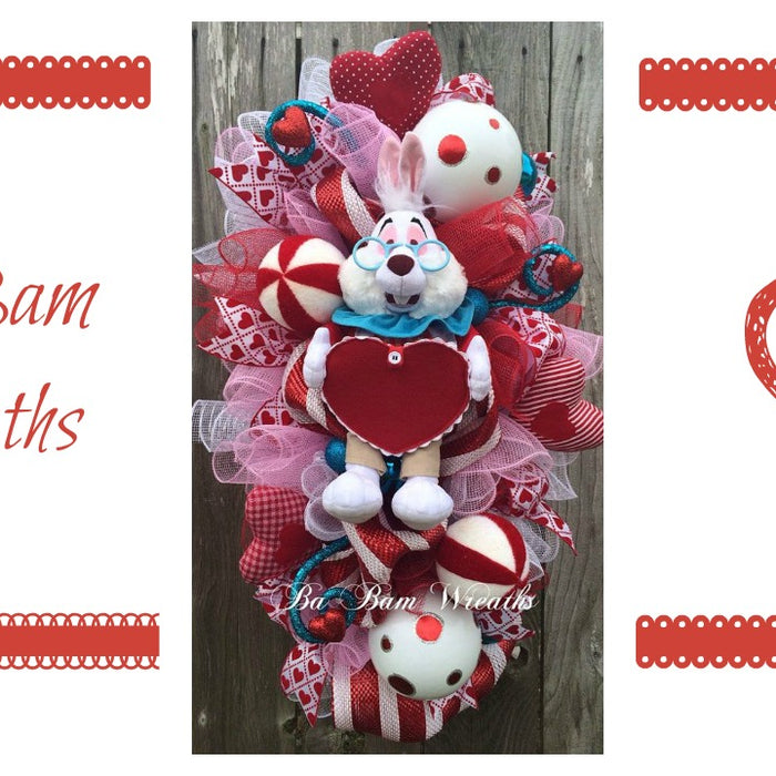 Valentine Wreath by Trendy Tree Custom Designers