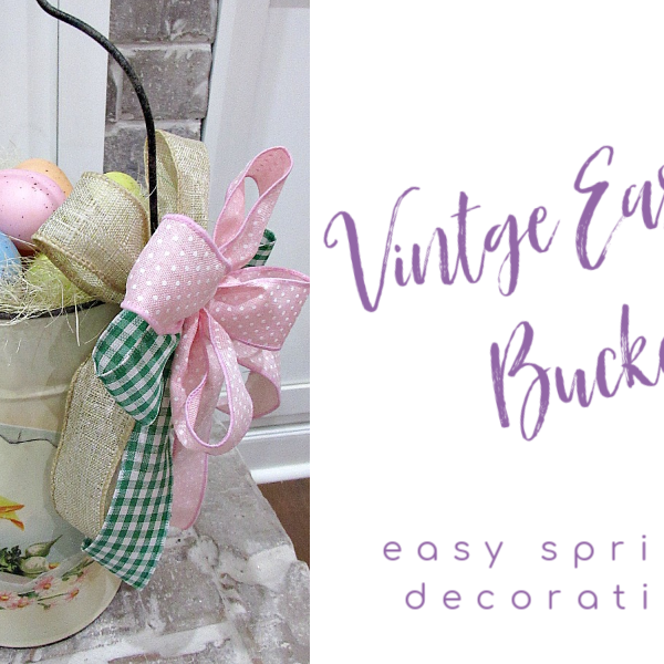 Vintage Easter Bucket Decoration