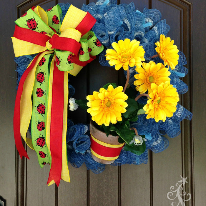 Yellow Gerbera Daisy Wreath Tutorial