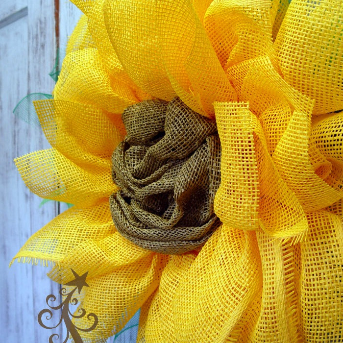 New Sunflower Yellow Paper Flower Tutorial with Paper Mesh Center