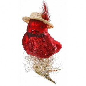 red bird clip on christmas ornament