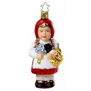 inge-glas little red riding hood christmas ornament