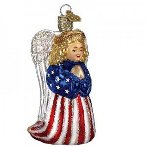 old world christmas patriotic angel christmas ornament 9/11/2001