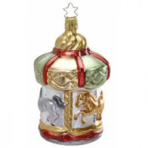 inge-glas carousel memories christmas ornament