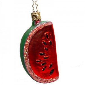 slice of red watermelon christmas ornament inge-glas of germany