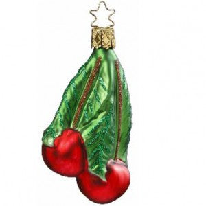 choice cherries christmas ornament from inge-glas of germany