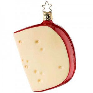gouda cheese slice christmas ornament inge-glas of germany
