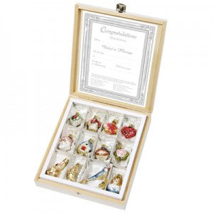 the bridal collection miniatures inge-glas christmas ornaments