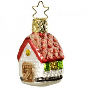 house christmas ornament from the bridal collection miniatures inge-glas of germany