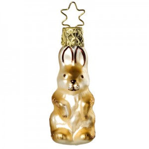 rabbit christmas ornament bridal collection miniatures inge-glas of germany