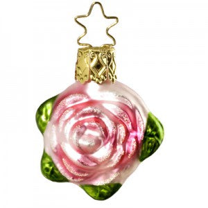 rose christmas ornament bridal collection miniatures inge-glas of germany