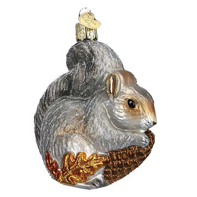 hungry squirrel christmas ornament old world christmas