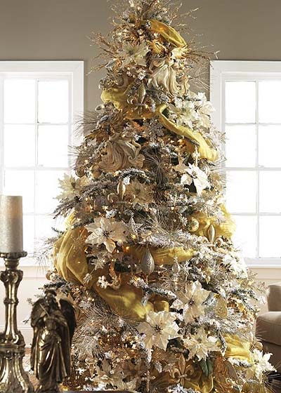 gold tree, silver tree, champagne tree