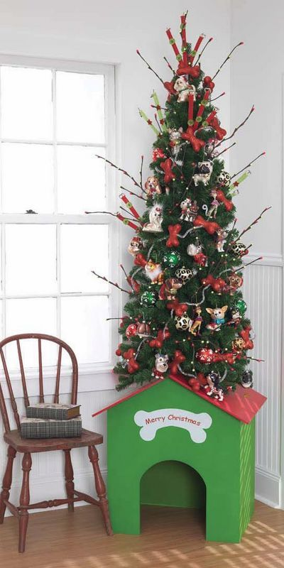 doghouse christmas tree, pet christmas tree