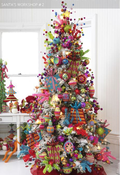 santa's workshop, whimsical chrisdtas tree