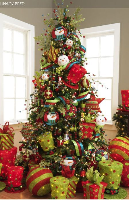 unwrapped christmas tree, christmas tree whimsy