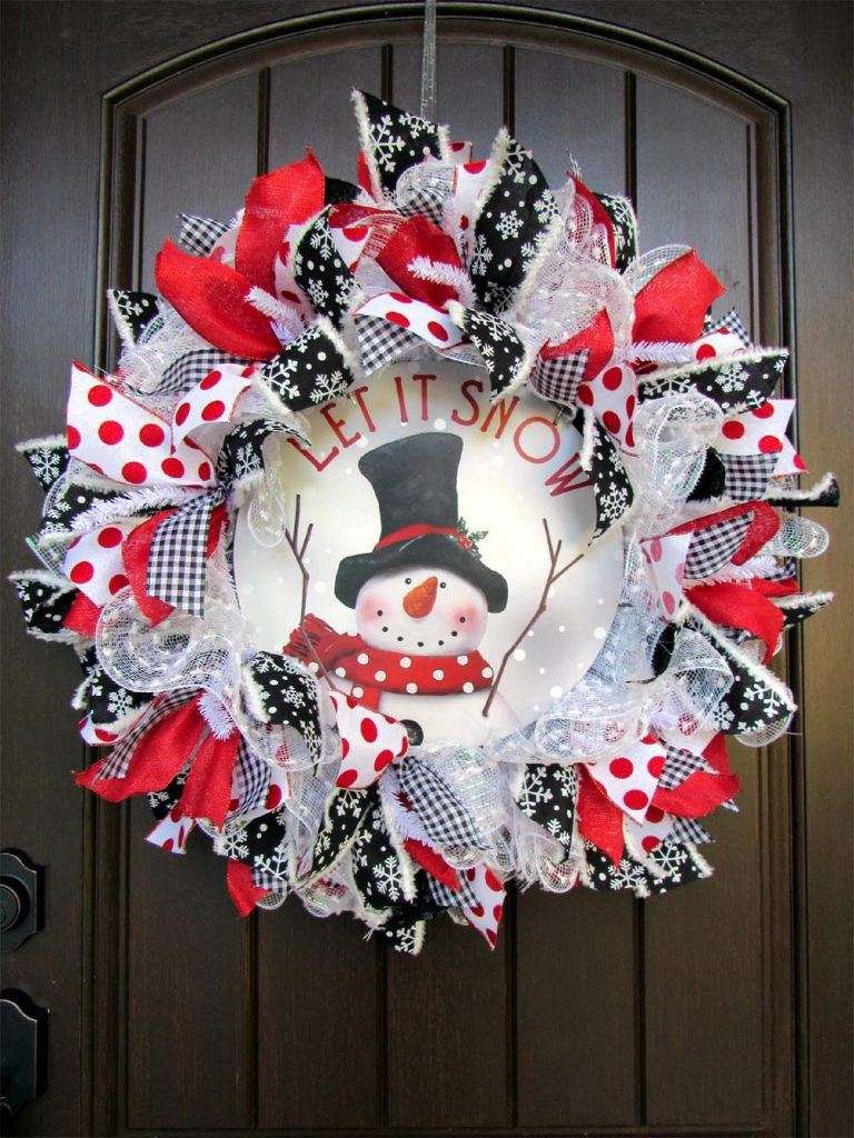 2017 Snowman With Center Sign Wreath Tutorial Trendy Tree