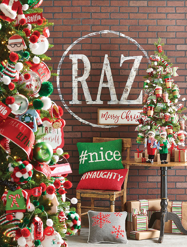 RAZ eat drink and be merry christmas tree
