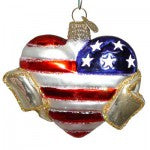 back of september 11, 2001 remembrance heart christmas ornament