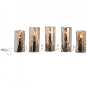 antiqued glass lighted pillar strand electric string of lights