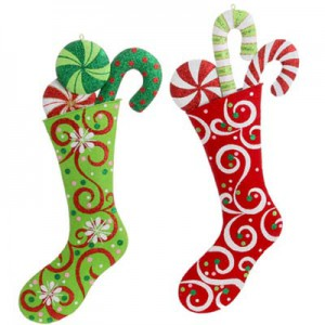 raz metal stocking ornament