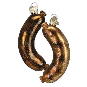 bratwurst christmas ornament