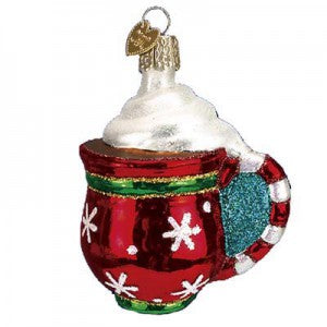 old world christmas cup of cocoa christmas ornament