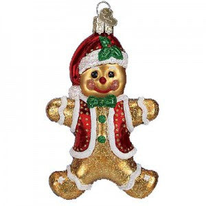 gingerbread boy christmas ornament old world christmas
