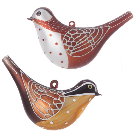 glass bird christmas ornament