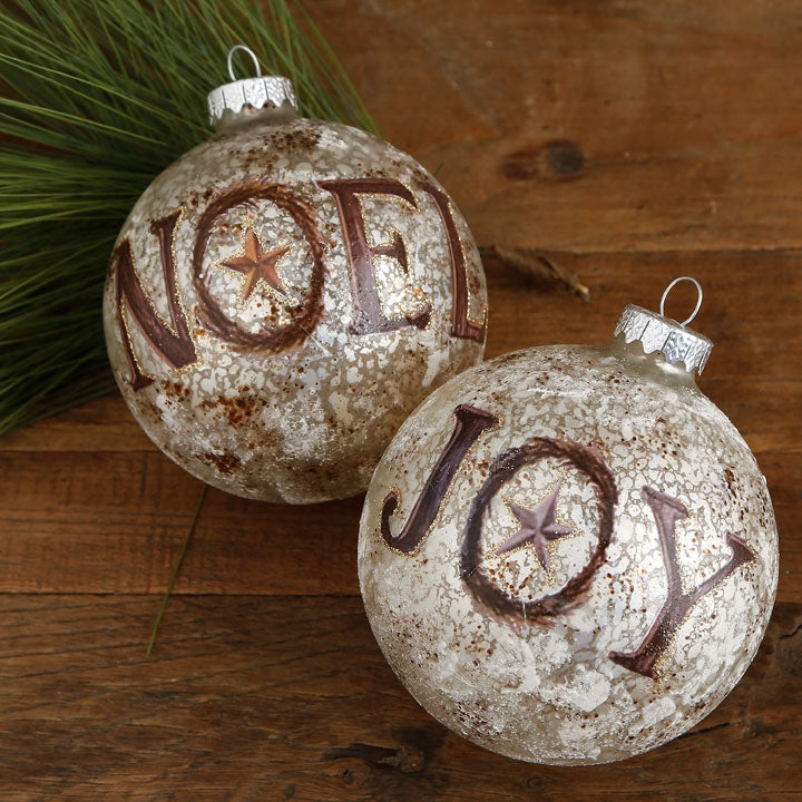 noel christmas ornament, joy christmas ornament