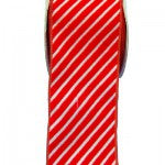 red and white diagonal striped ribbon